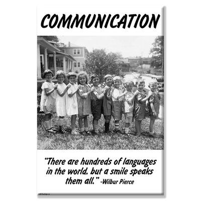 Communication Vintage Advertisement on Wrapped Canvas Size: 24