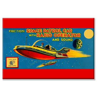 Space Patrol Car with Radio Operator Vintage Advertisement on Wrapped Canvas 0-587-24933-1C2030
