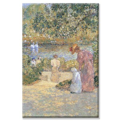 Staircase in Central Park Painting Print on Wrapped Canvas Size: 24