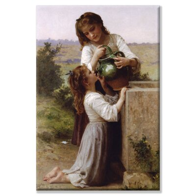 """Image of At the Fountain by William-Adolphe Bouguereau Painting Print on Wrapped Canvas Size: 20"""" x 30"""""""