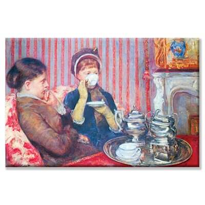 "Cup of tea #2 Painting Print on Wrapped Canvas Size: 20"" x 30"" 0-587-25776-8C2030"