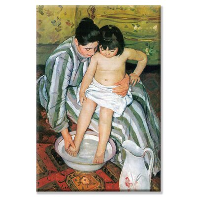 "Bath by Mary Cassatt Painting Print on Wrapped Canvas Size: 24"" x 36"""