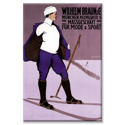 "Buyenlarge Reflective Skier in Turtleneck Canvas Wall Art - Size: 20"" H x 30"" W x 0.5"" D at Sears.com"