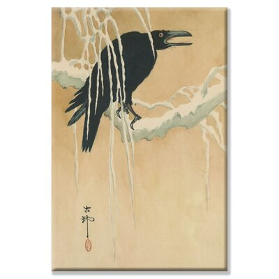 "Buyenlarge Blackbird in Snow Canvas Wall Art - Size: 20"" H x 30"" W x 0.5"" D at Sears.com"