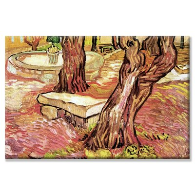 The Stone Bench in the Garden of Saint Paul Hospital by Vincent Van Gogh Painting Print on Wrapped Canvas 25666-4C2030
