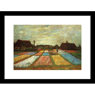 Flower Beds of Holland by Vincent Van Gogh Framed Painting Print 19322-01218BF
