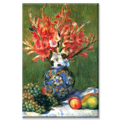 """'Flowers and Fruit' by Pierre-Auguste Renoir Painting Print on Wrapped Canvas Size: 30"""" H x 20"""" W 25481-5C2030"""