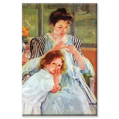 'Young Mother Sewing' by Mary Cassatt Painting Print on Wrapped Canvas 25810-1C2030