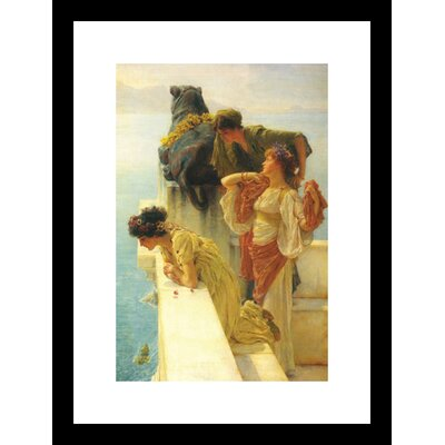 Good Vantage Point by Lawrence Alma-Tadema Framed Painting Print
