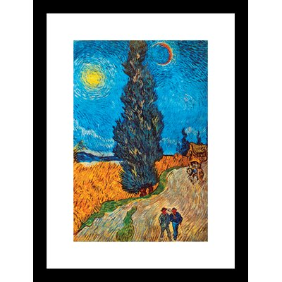 Road With Cypresses by Vincent Van Gogh Framed Painting Print 23235-81218BF