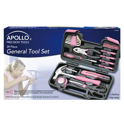 Apollo Tools 39 Piece General Tool Set - Color: Pink at Sears.com
