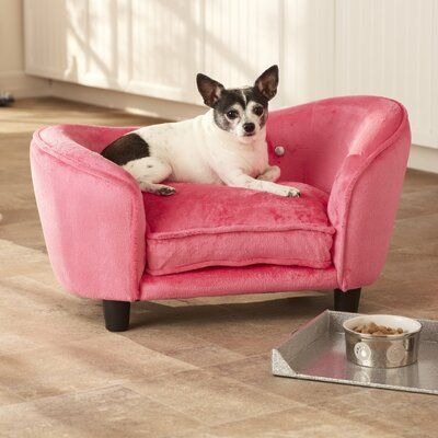 Ultra Plush Snuggle Dog Sofa Color: Pink