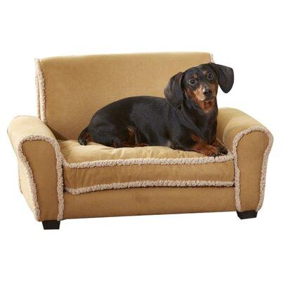 Ultra Plush Club Dog Sofa Color: Chestnut