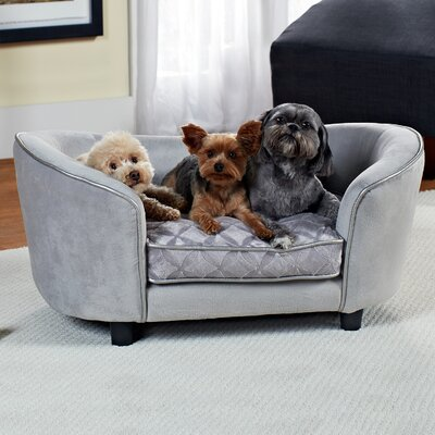 Ultra Plush Quicksilver Dog Sofa