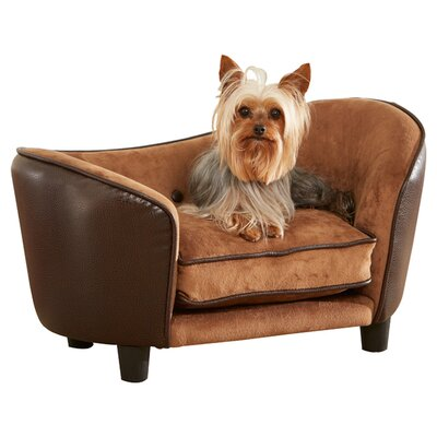 Ultra Plush Snuggle Dog Sofa Size: 26.75 W x 16 D x 14.75 H, Color: Brown