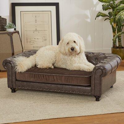 Wentworth Tufted Dog Sofa with Velvet Cushion