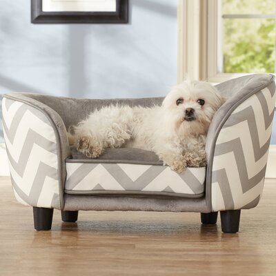 Chevron Snuggle Pet Bed Color: Gray