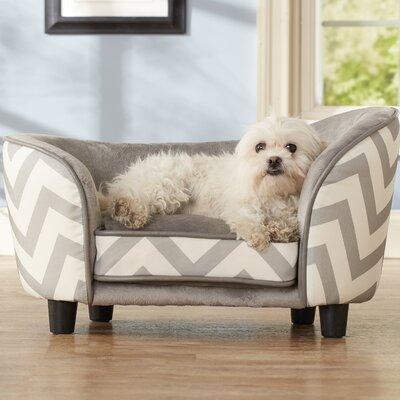 Chevron Snuggle Pet Bed Color: Gray