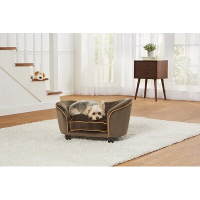 Ultra Plush Snuggle Dog Sofa Size: 26.5 W x 16 D x 16 H, Color: Light Brown