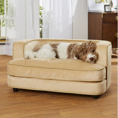 Longwood Ultra Plush Dog Sofa Color: Beige