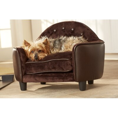 Lola Headboard Dog Sofa Color: Brown Pebble