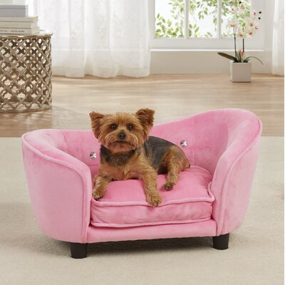 Lohmann Ultra Plush Snuggle Dog Sofa with Cushion Color: Light Pink