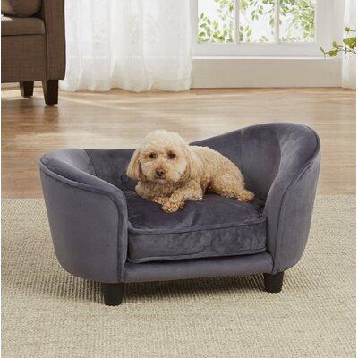 Lohmann Ultra Plush Snuggle Dog Sofa with Cushion Color: Dark Gray