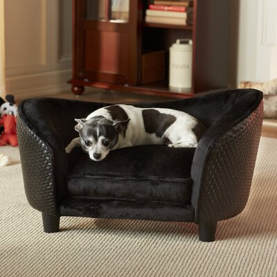 Ultra Plush Snuggle Dog Sofa Color: Black