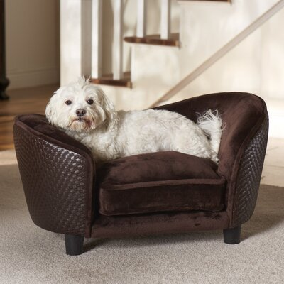 Ultra Plush Snuggle Dog Sofa Color: Brown