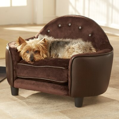 Ultra Plush Headboard Dog Sofa Color: Brown Pebble