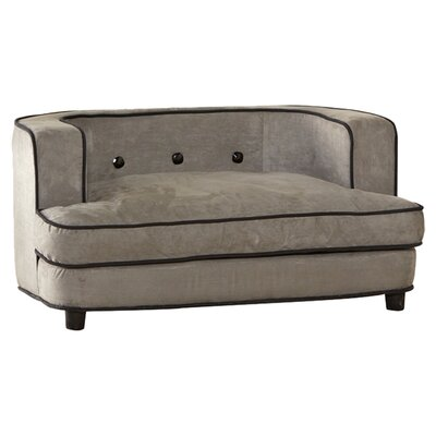 Longwood Ultra Plush Dog Sofa Color: Gray