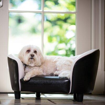 Snuggle Dog Sofa Color: Black/White