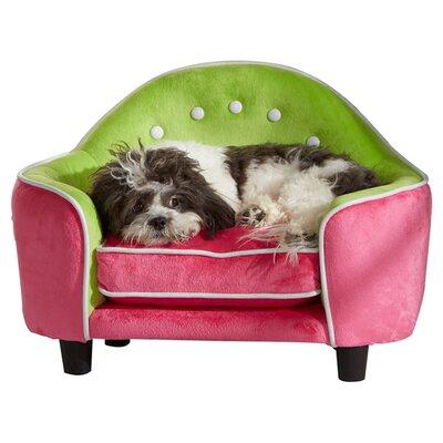 Ultra Plush Headboard Dog Sofa Color: Pink