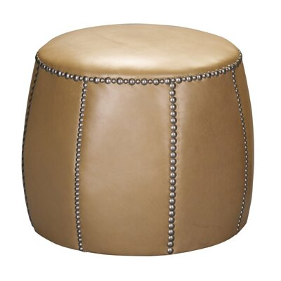 Tia Leather Ottoman