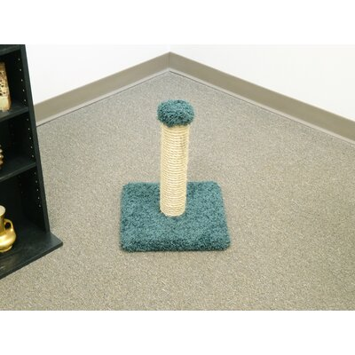 18 Sisal Cat Scratching Post Color: Green
