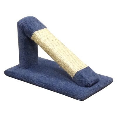 12 Premier Tilted Scratching Post Color: Blue
