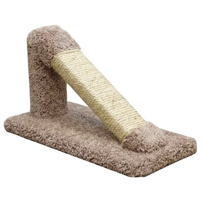 12 Premier Tilted Scratching Post Color: Brown