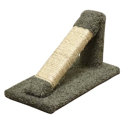 12 Premier Tilted Scratching Post Color: Green