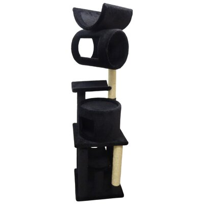 72 Premier Playstation Cat Tree Color: Black