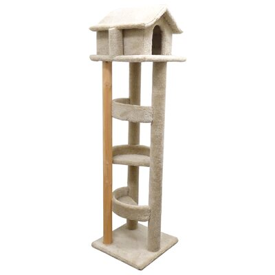 71 Pagoda Cat Condo Color: Beige