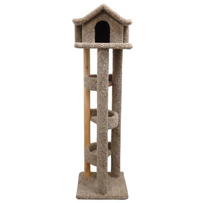 71 Pagoda Cat Condo Color: Brown