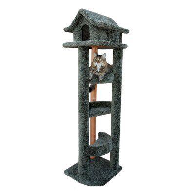 71 Pagoda Cat Condo Color: Green