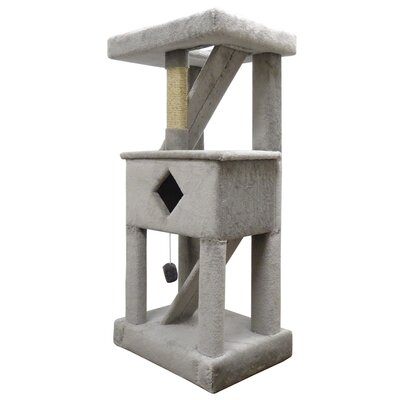 58 Premier Solid Wood Cat Play Gym Color: Gray
