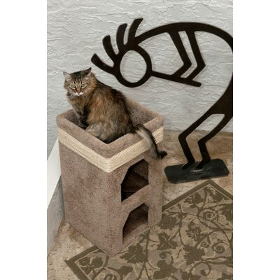 31 Premier Double Cat Condo Color: Brown