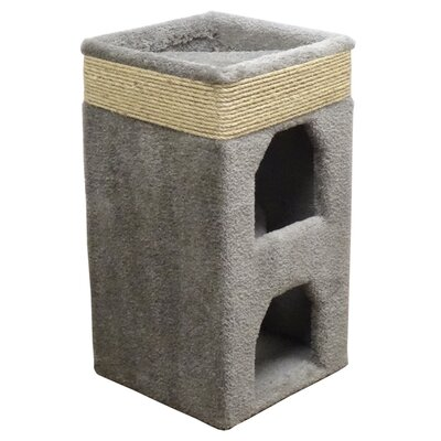 31 Premier Double Cat Condo Color: Gray