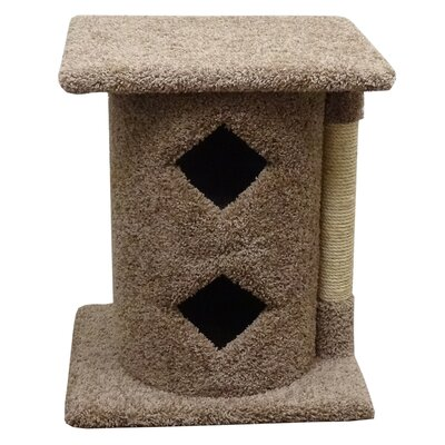 28 Premier 2 Story Cat Condo Color: Brown