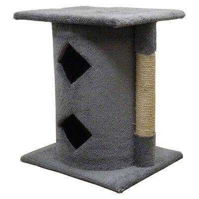 28 Premier 2 Story Cat Condo Color: Gray