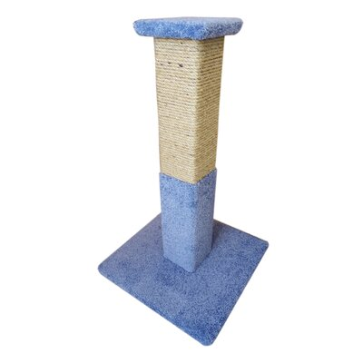 34 Premier Solid Wood Scratching Post Color: Blue