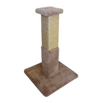 33 Premier Solid Wood Scratching Post Color: Brown