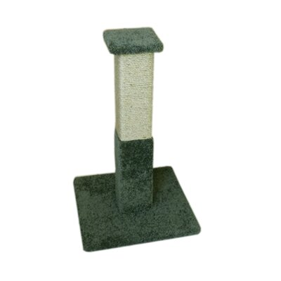 33 Premier Solid Wood Scratching Post Color: Green